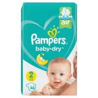 PAMPERS BABY DRY GROESSE 2 ; 4 – 8 KG 46 STUECK PACKUNG