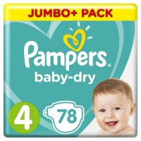 PAMPERS BABY DRY GROESSE 4 ; 5 – 15 KG 78 STUECK PACKUNG
