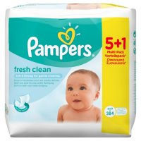 PAMPERS FEUCHTTUECHER FRESH CLEAN 5 + 1 384 STUECK PACKUNG