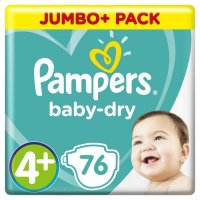 PAMPERS BABY DRY GROESSE 4+ ; 9 – 20KG 76 STUECK PACKUNG